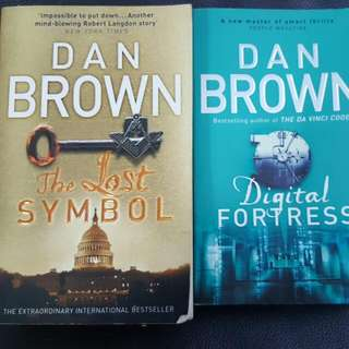 Digital Fortress And The LOST symbol By Dan Brown