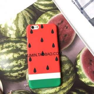 夏日 西瓜 iphone6 iphone6s 磨砂硬殼 手機殼