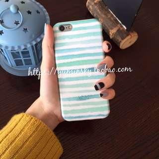 清新 簡約 條紋 iphone6 iphone6s 軟殼 手機殼