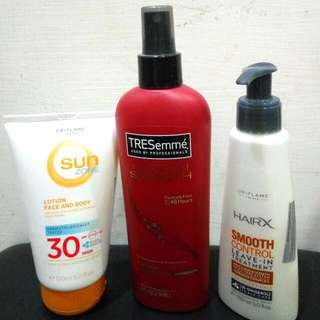 Sunblock, Protection Hair Spray, Leave-in Conditioner