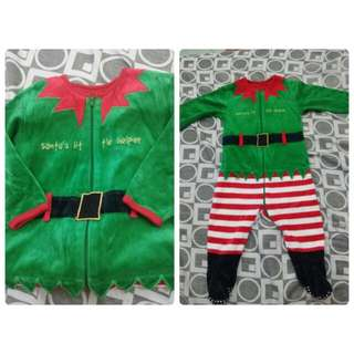 Santa's lil helper costume 6-24 mos.