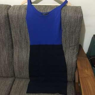 Mango 寶藍+深藍洋裝