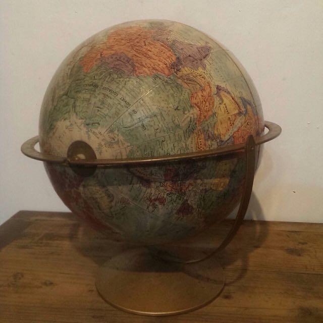 美國製 地球儀