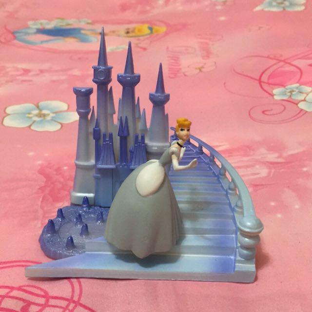 絕版 日本 tomy 場景 灰姑娘 仙度瑞拉 仙杜瑞拉 仙履奇緣 玻璃鞋 公仔場景組 盒玩