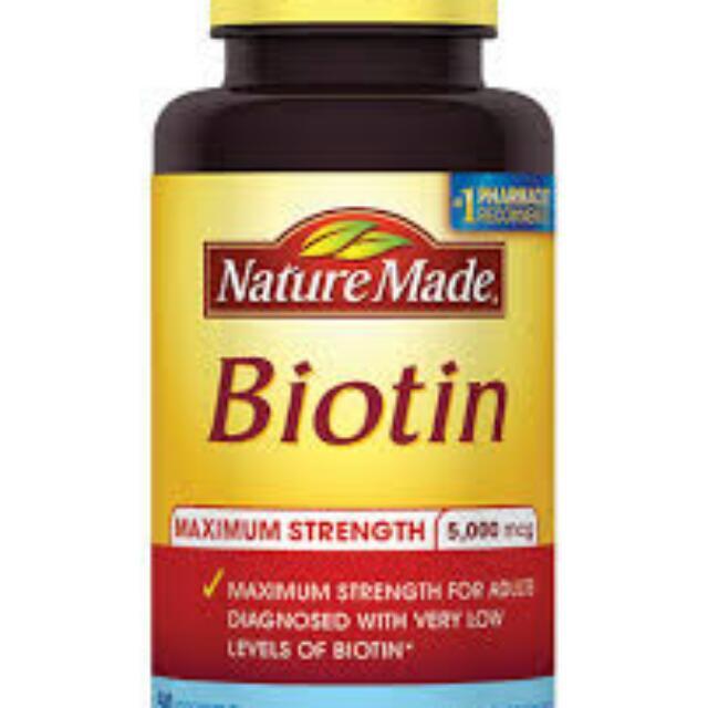代買Nature Made Biotin 頭髮營養品(120錠 or 50錠) 免運