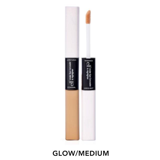 現貨 Javi-#81503 ELF雙頭2用眼部遮瑕提亮筆 健康Under eye concealer & Highlight-glow/medium