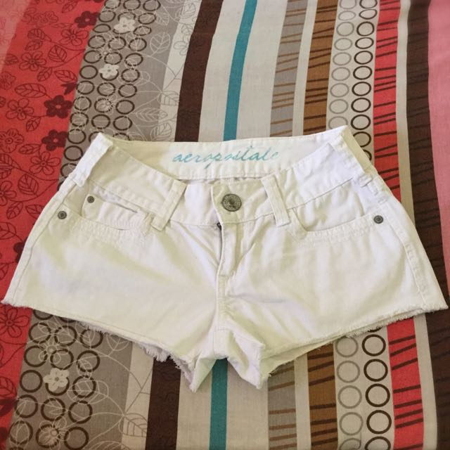 Aeropostale White Denim Short