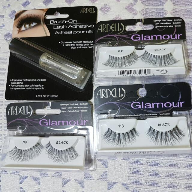 Arielle Brush On Adhesive And Arielle Invisiband Glamour Falsies Pack