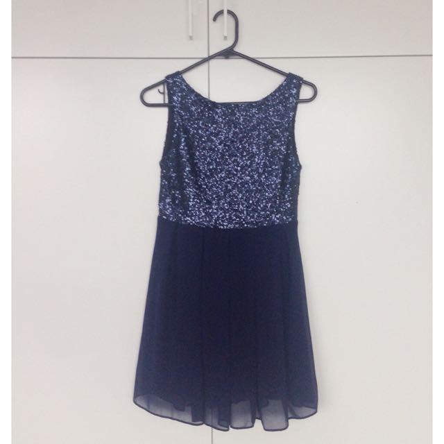 ASOS Sequin Dress (Navy)