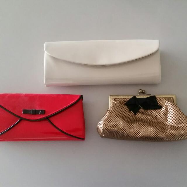 Assorted Clutches From Kate Hill And Zu