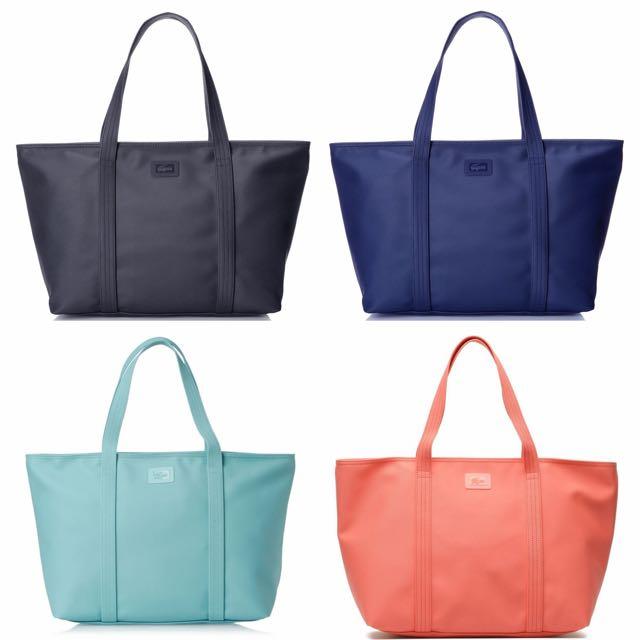Authentic Lacoste PVC Large Zip Bag
