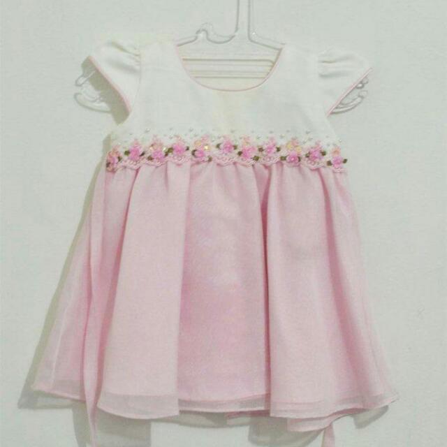 Baju Pesta Anak Soft Pink