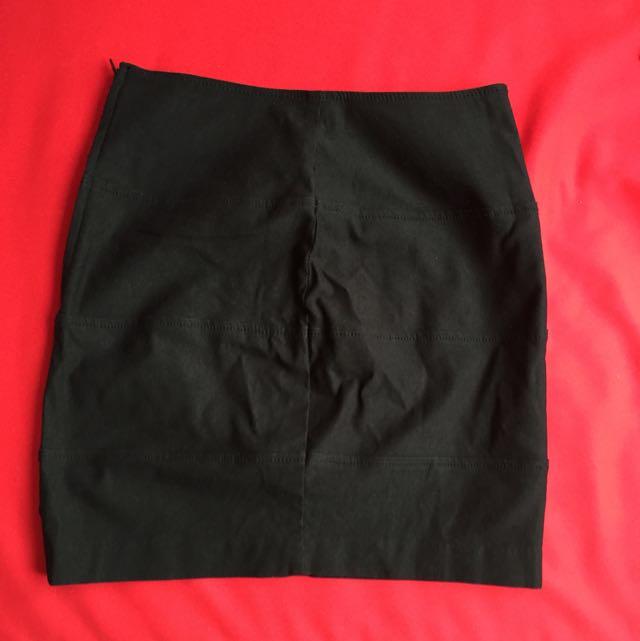 Black High Waisted Mini Skirt