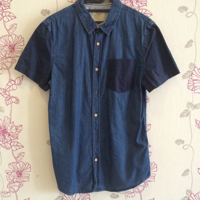 Blue Shirt Bershka