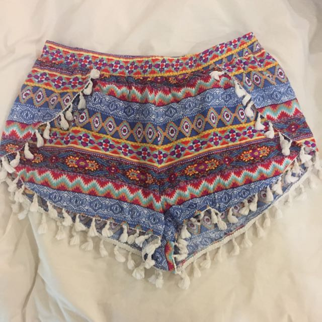 Colourful Tribal Patterned Shorts