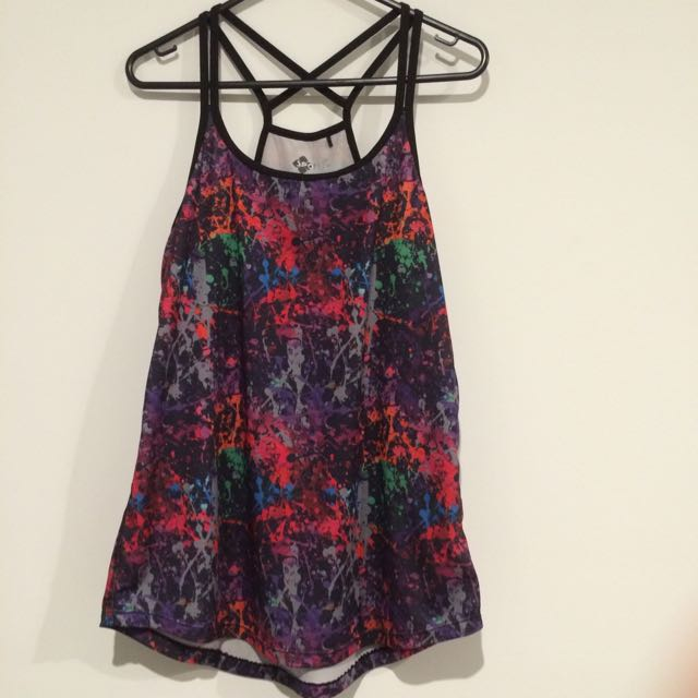 ON HOLD: Colourful Yoga Top