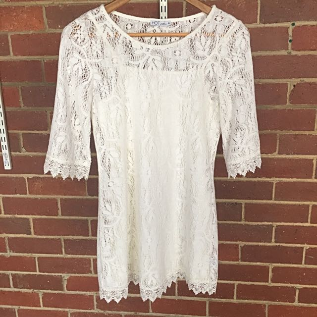 Hot Options Crochet Lace Dress