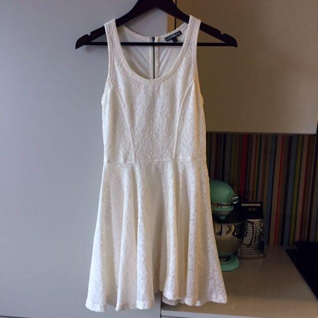 Express White XS Dress