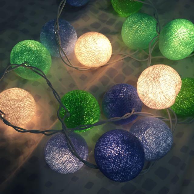 Fairy Lights With Orbs