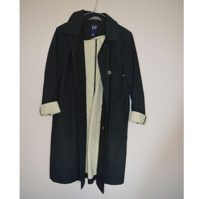 GAP black trench coat
