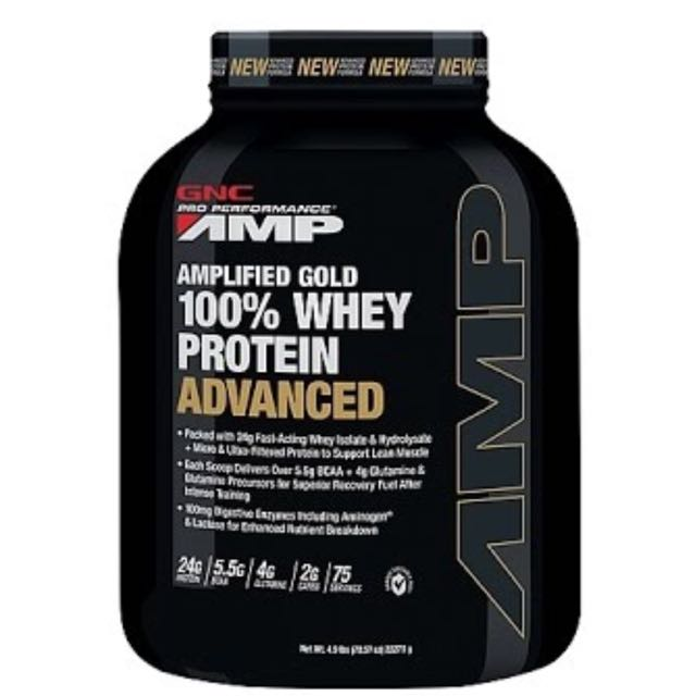 GNC Whey Protein Good Advanced Food Drinks Beverages On Carousell