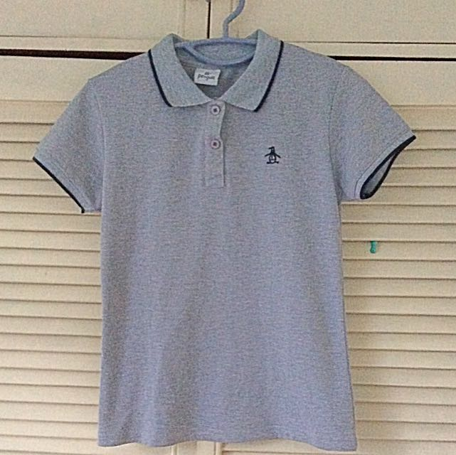 Gray Penguin Polo Top