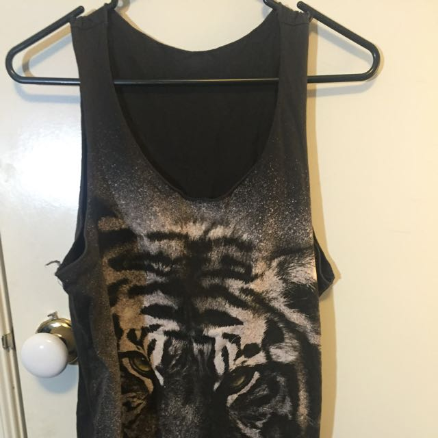 Grey Tiger Singlet One Size