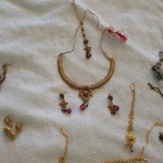 Heaps Of Indian Jewelry brought In India.