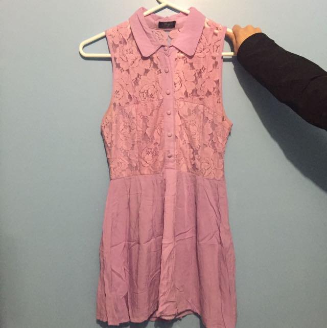 Ivy Lavender Lace Dress