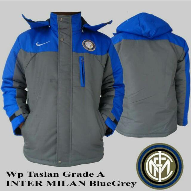 Jaket Waterproof Grade A Inter Milan BlueGrey, Men's Fashion, Men's Clothes, Outerwear on Carousell