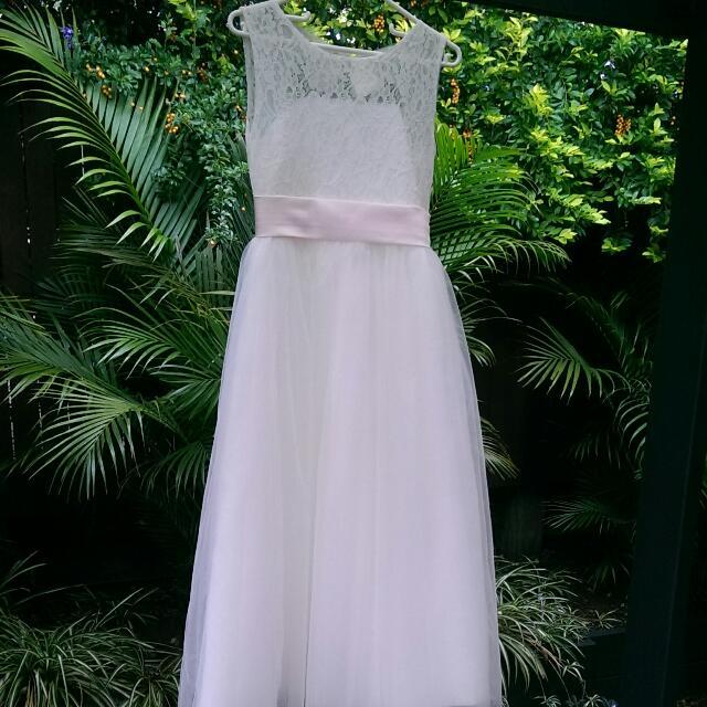 Lace Tulle Tutu Flower Girl Dress