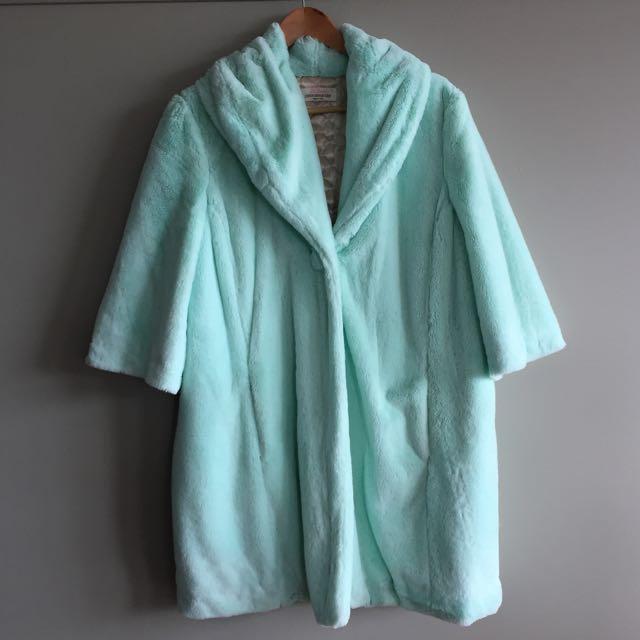 Ladies Peter Alexander Fur Coat Dressing Gown, Size Large