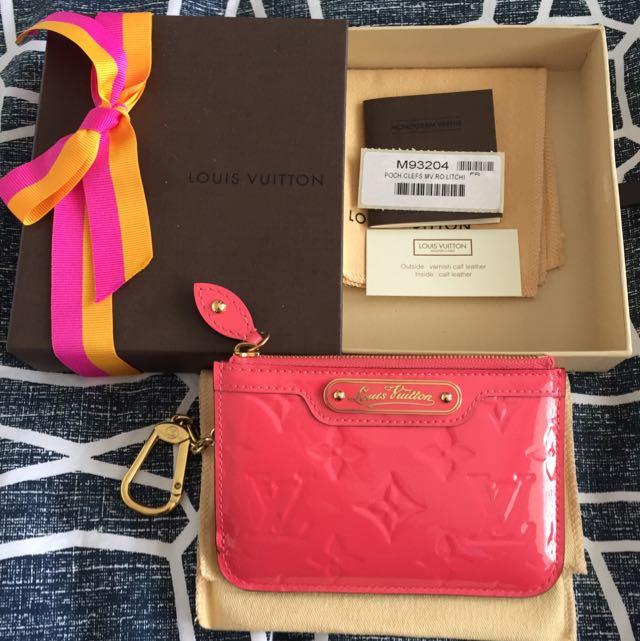 "Louis Vuitton Vernis Clutch Limited ""Rose Litchi"""