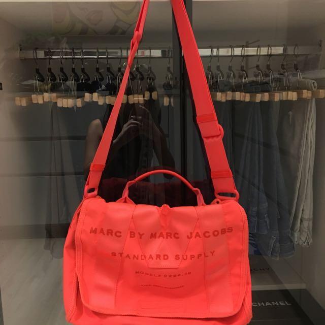 Marc By Marc Jacobs Shoulder Bag/Handbag/螢光粉肩背包/手提包