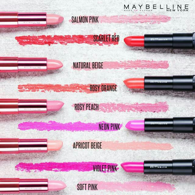 Maybelline Rosy Matte By Color Sensational Lipstick, Health & Beauty, Makeup on Carousell