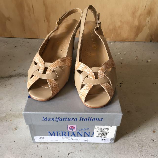 Medianna Italian Leather Shoes Size 37.5