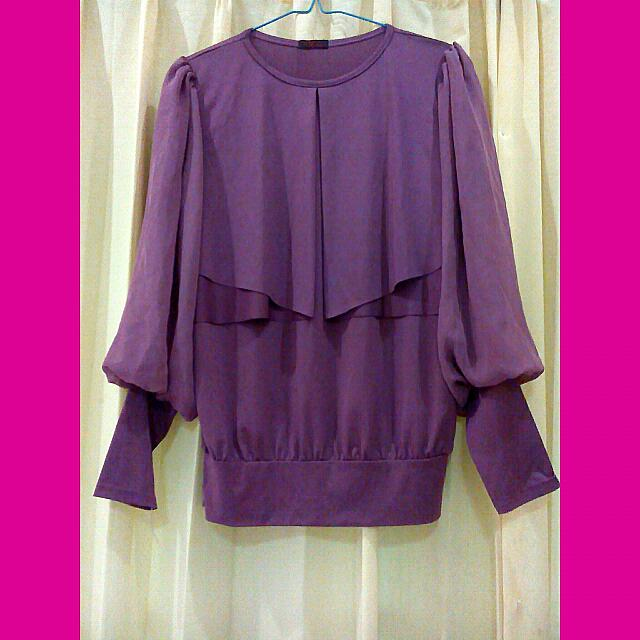 (New) Rose Pink Blouse With Cape