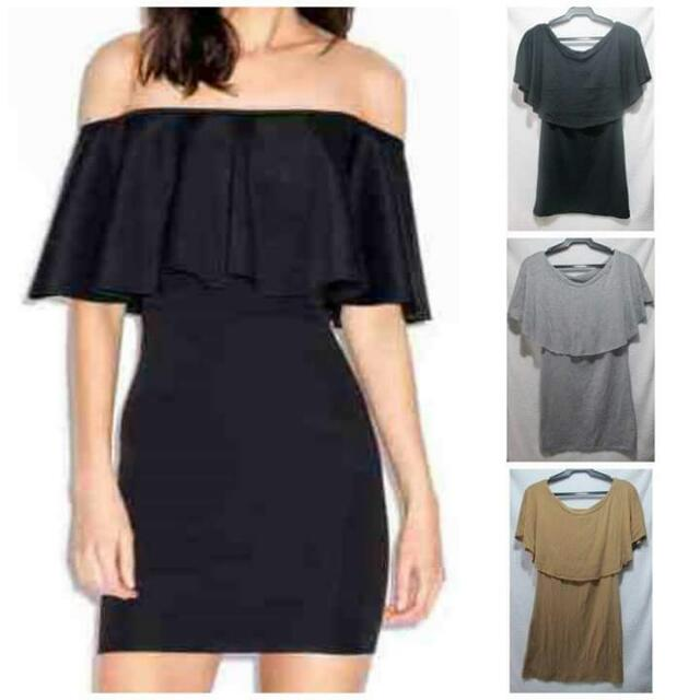 Repriced!130php Off Shoulder Bodycon Dress