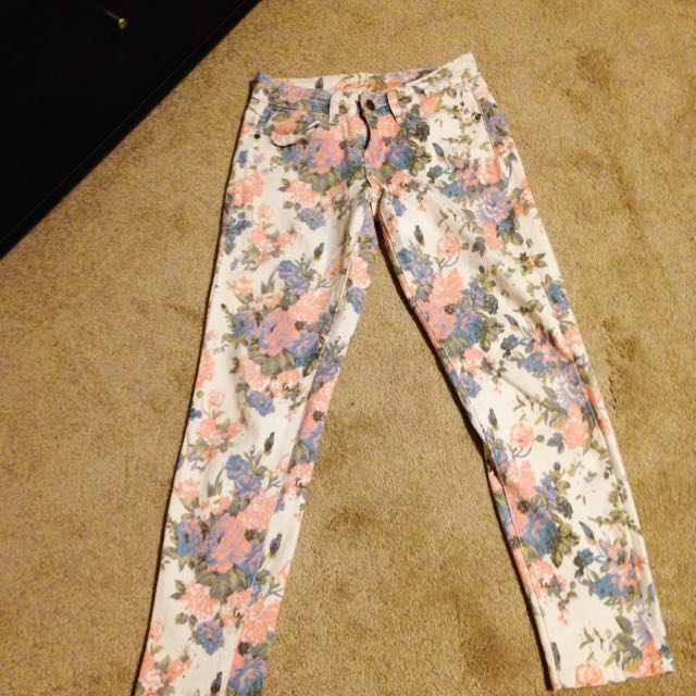 Pastel Floral Jeans
