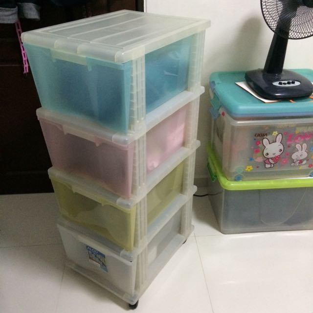 Plastic Storage 4 Tier