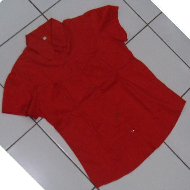 Preloved - Red Short Sleeve Shirt