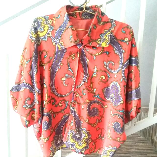 Preloved_Silky Outer Batik