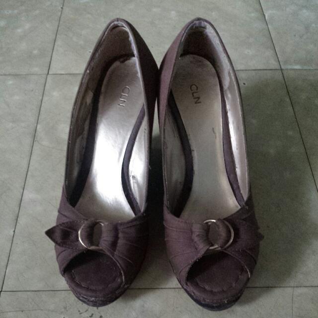 preloved wedge shoes celine brand