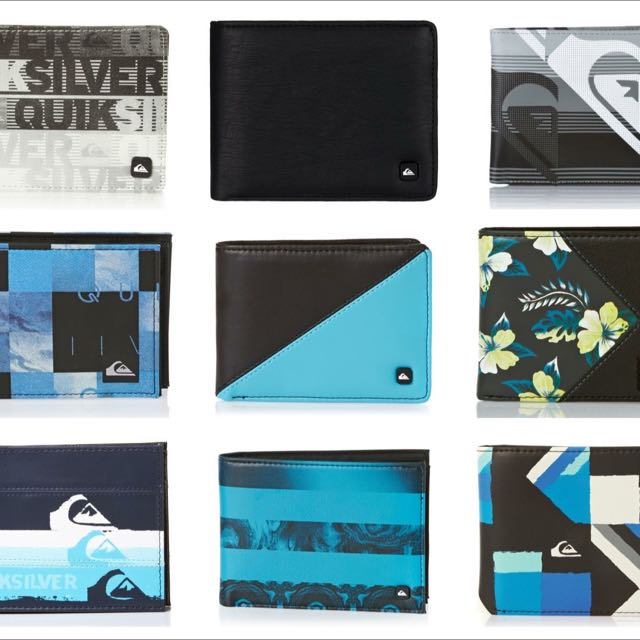 Quicksilver Wallets 2 For 1200 Only