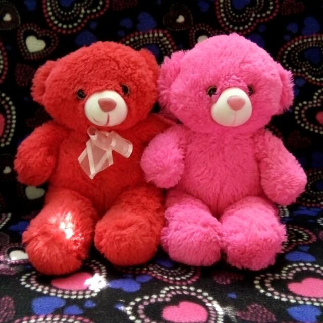 Red & Pink Teddy Bear