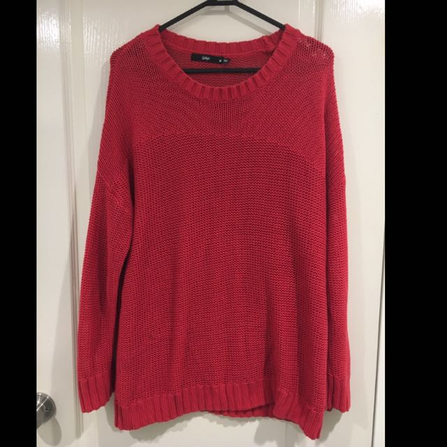 Red Sportsgirl Jumper