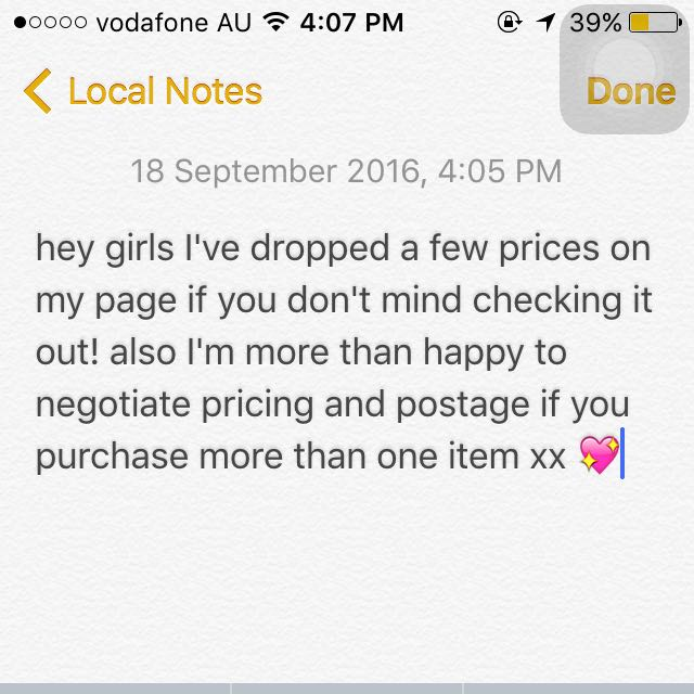Reduced Prices 💖