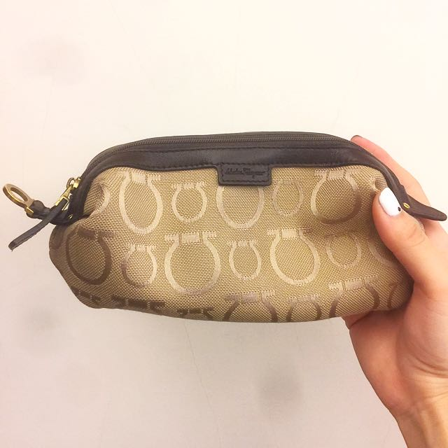 Salvatore Ferragamo 馬蹄釦環筆袋