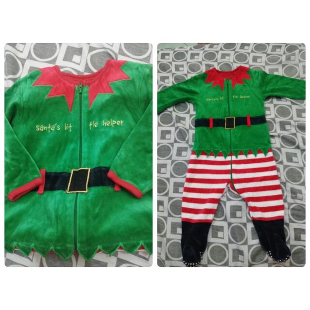 Santa's lil helper costume 6-24 mos.