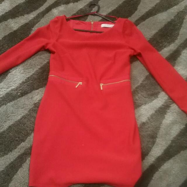 Seduce Dress - Red Size 12